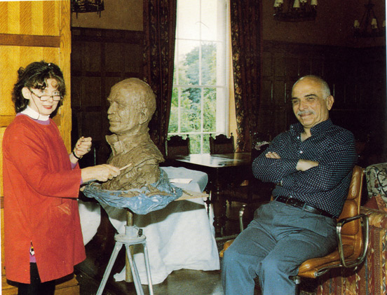 Shenda Amery with His Hashemite Majesty, King Hussein of Jordan