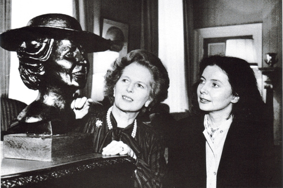 Shenda Amery with Baroness Margaret Thatcher